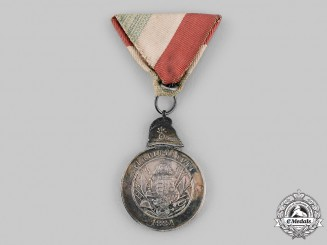 Hungary, Kingdom. An Alapittatott Fire Brigade Long Service Medal for Twenty Years' Service