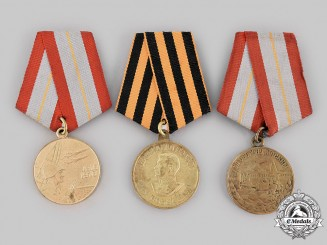 Russia, Soviet Union. Three Second War Awards