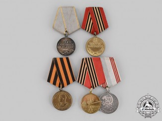 Russia, Soviet Union, Federation. Five Second War Awards