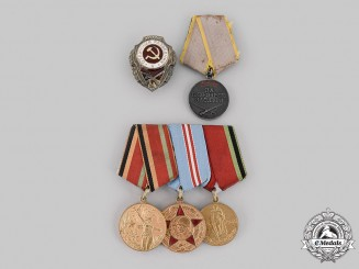 Russia, Soviet Union. Five Second War Awards