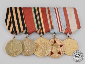 Russia, Soviet Union. A Second War Veteran's Group of Five
