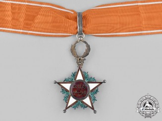 Morocco. An Order of Ouissam Alaouite, III Class Commander, c.1945 by Arthus Bertrand