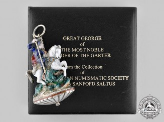 "United Kingdom. A Most Noble Order of the Garter, ""The Great George"" Collar Badge, c. 1860"