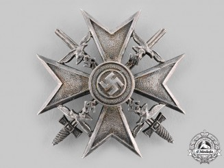 Germany, Wehrmacht. A Spanish Cross, Silver Grade with Swords, by Paul Meybauer
