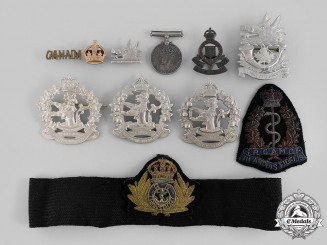 Canada, Commonwealth. A Lot of Eleven Badges & Insignia