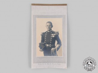 United Kingdom. A Royal Navy Veteran Officer's Studio Photograph