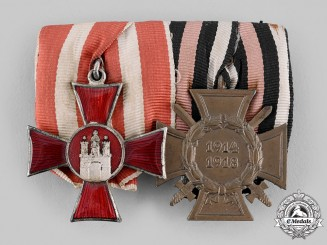 Germany, Hamburg, Imperial. A First War Veteran's Pair