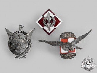 Poland, Republic. Three Post-1945 Air Force and Navy Badges