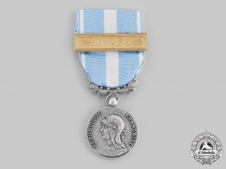 France, V Republic. An Overseas Medal with Somalia Clasp, c.1965
