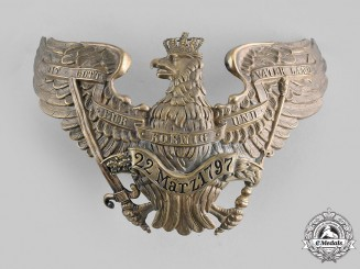 Prussia, Kingdom. A II East Prussia, Regiment No.7 King Wilhelm I Grenadier Regiment Officer's Pickelhaube Plate, c.1900