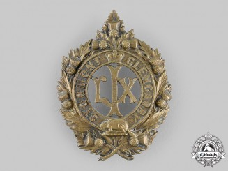 Canada, Dominion. A 59th Stormont and Glengarry Battalion of Infantry Glengarry Badge c.1904