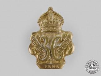 Canada, Dominion. A 36th Peel Regiment Cap Badge c.1904
