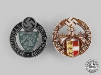 Germany, Third Reich. A Pair of Diaspora Association Membership Badges
