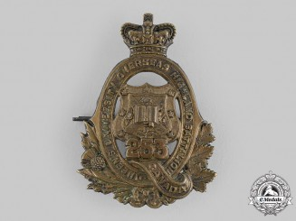 "Canada, CEF. A 253rd Infantry Battalion ""Queen's University Highlanders"" Cap Badge"
