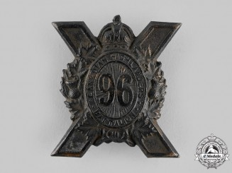 "Canada, CEF. A 96th Infantry Battalion ""Canadian Highlanders"" Glengarry Badge, by Dingwall, c.1916"