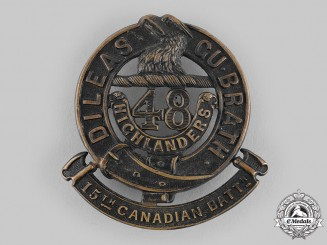 "Canada, CEF. A 15th Infantry Battalion ""48th Highlanders of Canada"" Glengarry Badge, c.1915"
