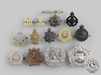 Canada, Commonwealth. A Lot of Fifteen Cap/Glengarry/Collar Badges