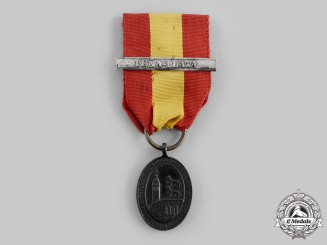 """Spain, Carlist Wars. A Medal for Defenders of Bilbao, Bronze Medal with """"Peña-Plata"""" Clasp, c.1874"""