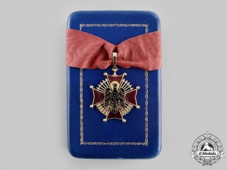 Spain, Fascist State. An Order of Cisneros in Gold, Commander with Case, by Cejalvo, c.1950