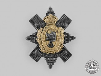 Canada, Dominion. A 5th Regiment Royal Scots of Canada Officer's Bonnet Badge, c. 1904