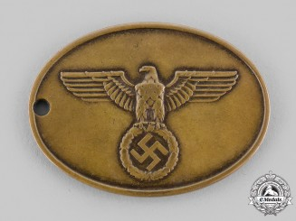 Germany, Kripo. A Criminal Police Officer's Identity Tag