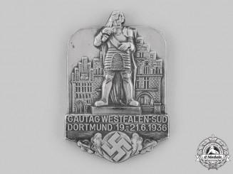 Germany, NSDAP. A 1936 Dortmund Westfalen-Süd Gautag Plaque
