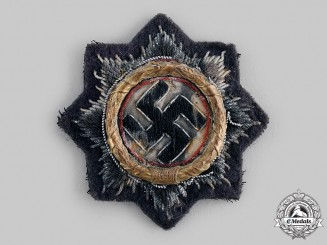 Germany, Wehrmacht. A German Cross, Gold Grade, Cloth Version