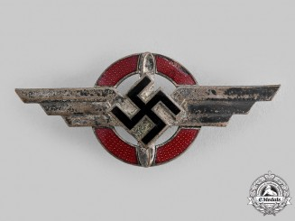 Germany, DLV. A German Air Sports Association (DLV) Visor Cap Insignia, by Wilhlem Deumer