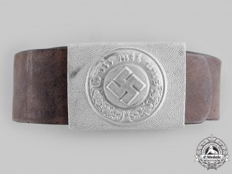 Germany, Ordnungspolizei. An EM/NCO's Belt and Buckle, by Richard Sieper & Söhne