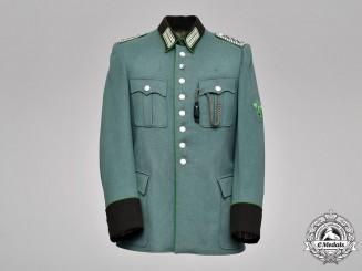 Germany, Ordnungspolizei. A Stuttgart Protection Police Meister NCO Tunic, by G. Mauch, c.1941