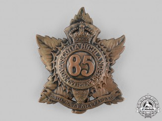 "Canada, CEF. An 85th Infantry Battalion ""Nova Scotia Highlanders"" Glengarry Badge, c.1915"