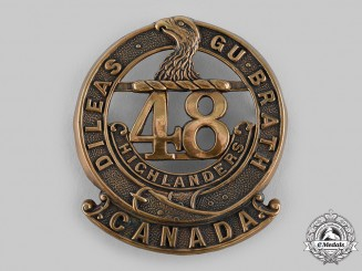 "Canada, CEF. A 15th Infantry Battalion ""48th Highlanders of Canada"" Glengarry Badge, c.1915"