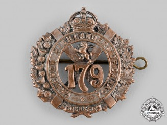 "Canada, CEF. A 179th Infantry Battalion ""Cameron Highlanders of Canada"" Glengarry Badge, c.1916"