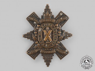 "Canada, CEF. A 13th Infantry Battalion ""Royal Highlanders of Canada"" Glengarry Badge, by Tiptaft, c.1914"