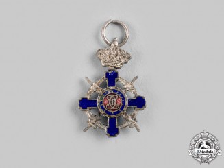 Romania, Kingdom. A Miniature Order of the Star of Romania, V Class Knight, Military Division, c.1940