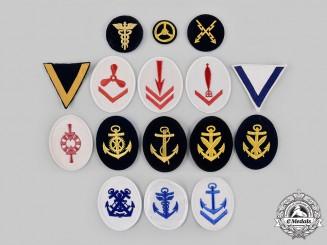 Germany, Kriegsmarine. A Lot of Sixteen Naval Insignia