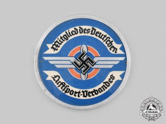German, DLV. A German Air Sports Association (DLV) Membership Plaque, by Paulmann & Crone