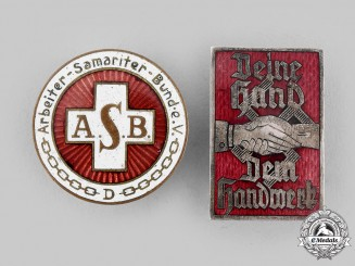 Germany, Third Reich. A Pair of Labour Badges