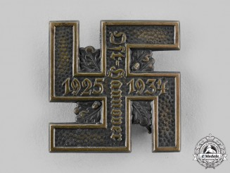 Germany, NSDAP. A 1934 East Hannover NSDAP 10 Year Anniversary Badge