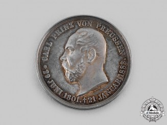 Prussia, Kingdom. A Prince Charles of Prussia Medal , c.1885