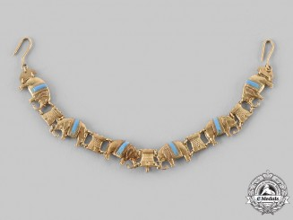 Denmark, Kingdom. An Order of the Elephant Miniature Collar in Gold, c. 1900