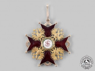 Russia, Imperial. An Order of St. Stanislaus in Gold, I Class Badge, by Ivan Keibel, c.1870