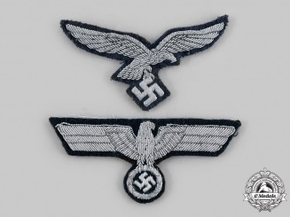 Germany, Wehrmacht. A Pair of Officer Eagle Insignia