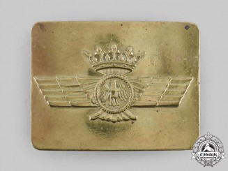 Spain, Facist State. An Air Force Enlisted Man's Belt Buckle, c.1936