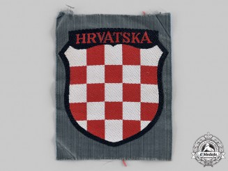 Germany, Heer. A 369th Croatian Infantry Division Shoulder Arm Shield