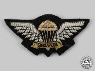 Singapore, Republic. A Republic of Singapore Air Force (RSAF) Parachutist Badge