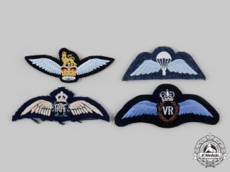 Australia, United Kingdom. A Lot of Four Air Force Badges