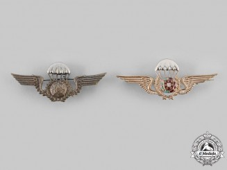 Portugal, Republic. Two Parachutist Badges