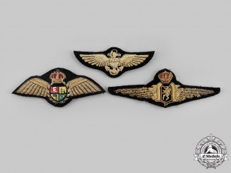 International. A Lot of Three Air Force Pilot Badges