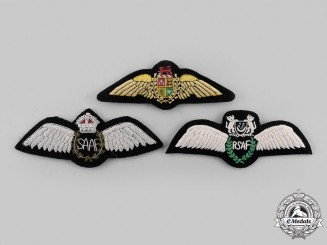 Singapore, South Africa. A Lot of Three Pilot Badges
